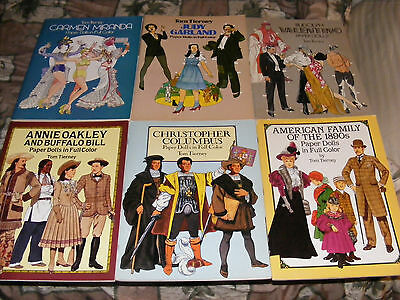 Lot of 8 Tom Tierney Paper Doll Books Uncut