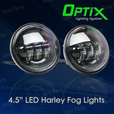 "Optix 4.5"" 30W CREE LED Auxiliary Spot Fog Passing Light Lamp Harley Davidson"