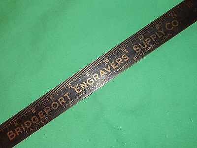 1950s BRASS, LETTERPRESS PRINTING PICA STICK PRINTERS RULER  INCHES PICAS AGATES