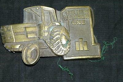 Vintage Mens International Harvester Tractor Cowboy Belt Buckle Men