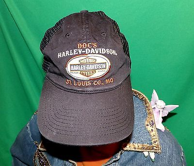 Harley Davidson Doc's Hat, Embroidered Baseball Cap, Vintage Hat