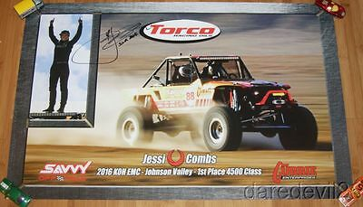 2016 Jessi Combs signed Torco Fuels King Of The Hammers SEMA Show Promo Poster