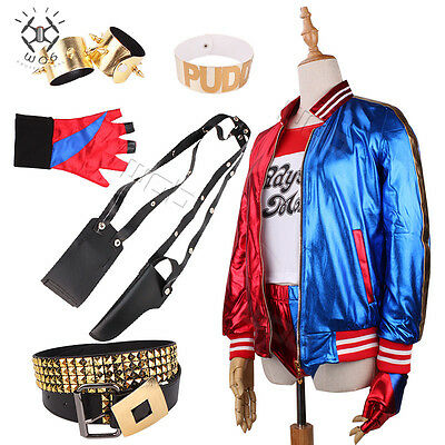Suicide Squad Ladies Girls Kids Adult Harley Quinn Fancy Dress Costume Outfit