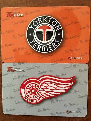 2016 TIM HORTONS GIFT CARD - Yorkton Terriers and Weyburn Red Wings