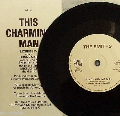 "The Smiths -This Charming Man- Rare Export 7""/Solid Centre/Glad Hips Sleeve"