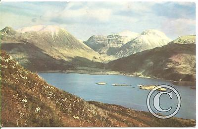The mountains of Glencoe from Loch Leven, Scotland - postcard