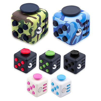 Fidget Cube Toy Stress Relief Focus For Kid Adults 6 ADHD AUTISM Xmas Gift