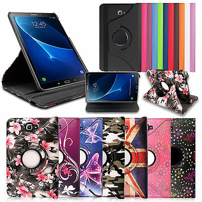 """360 Rotation Leather Stand Case Cover For New Samsung Galaxy Tab A 9.7"""" 10.1"""""""