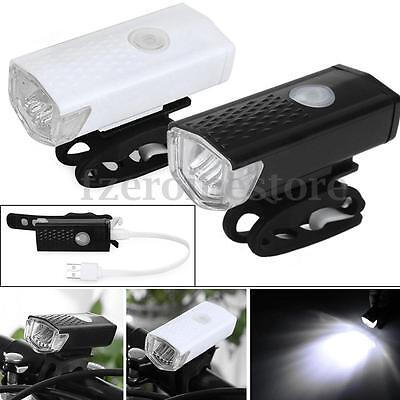 300LM LED USB Rechargeable Cycling Bicycle Front Light Bike Head Lamp 3 Modes