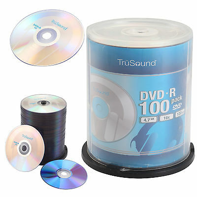 100 Blank DVD+R 16x Speed 4.7GB 120 Mins Discs Recordable CD DVDS NEW Wrap Pack