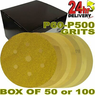 "Pro Range Gold 6+1 Holes 6"" [150mm] Mirka Velcro DA Sanding Discs Box Quantities"