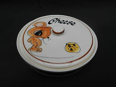 1950/60's Vintage TONI RAYMOND Hand Painted Dairylea Lidded ** CHEESE ** Dish