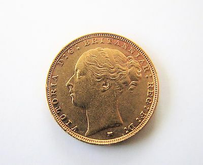 Gold Sovereign 1886 Young Head Melbourne