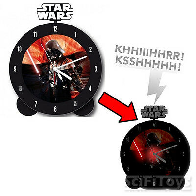 Star Wars Darth Vader Alarm Clock Glow in the Dark w/ Lights and Sounds *NEW*