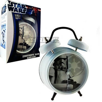Star Wars Stormtrooper Clone Twin bell talking alarm clock