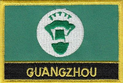 Guangzhou City China Flag Embroidered Patch Badge - Sew or Iron on