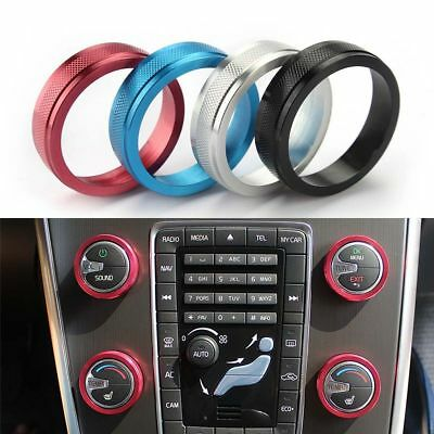 4PCS Lid Ring New AC Heat Control Switch Knob Cover For VOLVO V60 XC60 S80 V40
