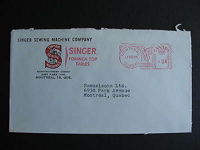 CANADA 1955 Singer Sewing Machines Montreal advertising cover, check it out!