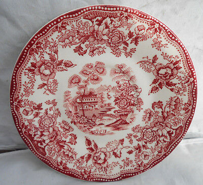 Tonquin Red Royal Staffordshire Coffee Saucers Only Clarice Cliff Transferware