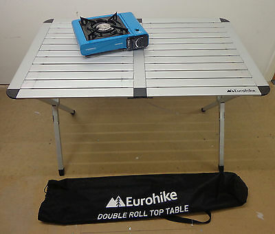Eurohike Roll Top Double Folding Camping Travel Portable Outdoor Faulty Table