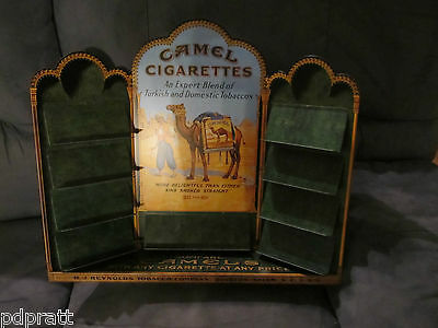 "Camel Cigarette Store Display Metal Sign 18"" by 20"" Mint In Factory Box"