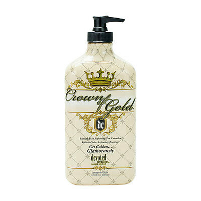 Devoted Creations Crown of Gold Lotion with DHA Bronzers 18.75oz