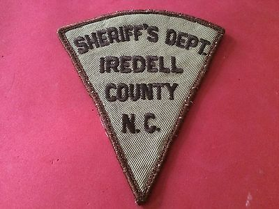 Iredell County Sheriff North Carolina Police Patch