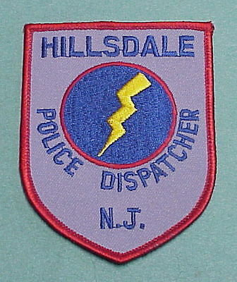 Hillsdale  New Jersey  Nj  Dispatcher  Police Patch   Free Shipping!!!