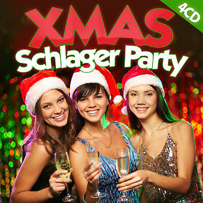 CD Xmas Schlager Party von Various Artists 4CDs