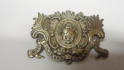 Rare Military 10th Somerset Volunteer Rifles Victorian Officer`s pouch badge