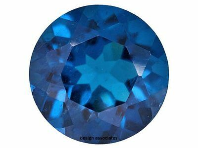 Neon Apatite Natural 5  Mm Round Cut  Blue Outstanding Neon Color