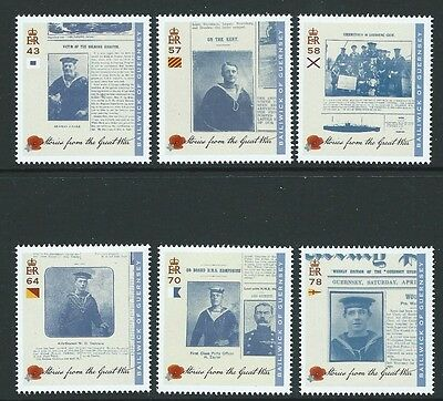 Guernsey 2016  Stories From The Great War Set Of 6 Unmounted Mint, Mnh