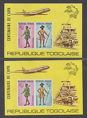 **Togo, SC# C223a MNH VF, Rouletted & Imperf S/S, CV $80.00