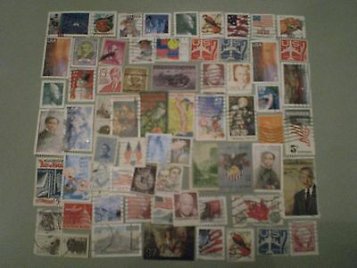 Pile of  Used USA  Stamps