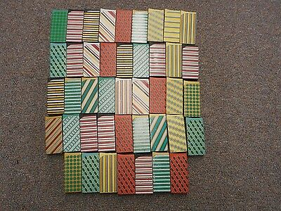 Lot of 43 Refillable Metal Lighters Old Style Repro Stripes Art Vintage Looking