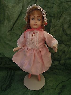 "Porcelain doll: Bev Schmelling luncheon doll - all porcelain/bisque 9""  LC-392"