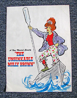 """Original 1960-62 """"the Unsinkable Molly Brown"""" Musical Program: Tammy Grimes"""