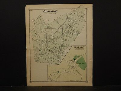 Massachusetts Middlesex County Map 1875 Town of Wilmington !Z3#99