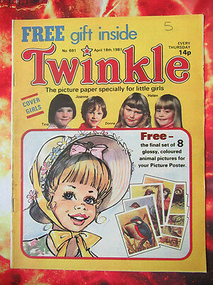 Twinkle  Comic No.691. 18 April 1981. Vfn. Puzzles Not Done.