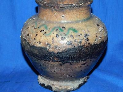 Primitive ANTIQUE African Clay Pottery Vase Vessel