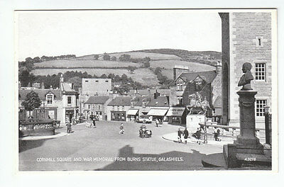 Cornmill Square From Burns Statue Galashiels Selkirk Photo Taken 1935 Valentines