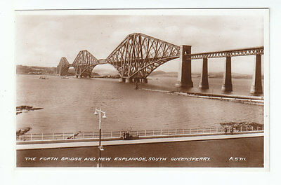 The Forth Bridge And New Esplanade South Queensferry 1937 Real Photograph