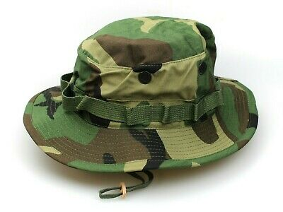 d298fb64b285b New Genuine Us Issue Boonie Hat Jungle Woodland Camo Type-Iii Ripstop - Usa  Made