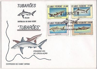 1994 CAPE VERDE Sharks FDC