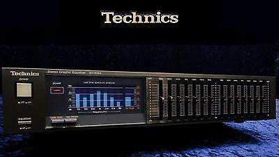 Vintage Stereo Graphic Equalizer TECHNICS SH-8044 7-Band Frequency EQ & Analyzer
