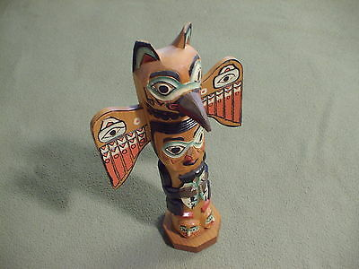 Totem Pole hand-carved figurine, Alaska, Seale
