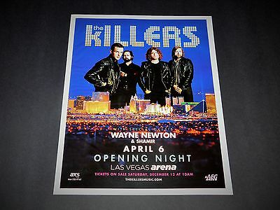 The Killers Las Vegas 2016 Concert 15x12 Matted Promo Ad / Poster NEW