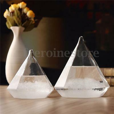 Weather Forecast Crystal Diamond Water Shape Storm Glass Decor Christmas Gift