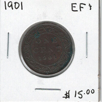 Canada 1901 Large 1 Cent EF45
