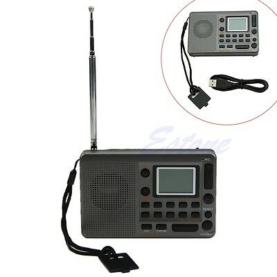 New Portable LCD Digital Tuning Receiver TF MP3 Player AM FM SW Full Band Radio